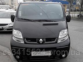 Реснички на фары Opel Vivaro 2001-2014 (под покраску)