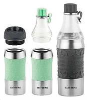 Термокружка-пляшка трансформер 2в1 зелена, 380 мл Edenberg EB-634