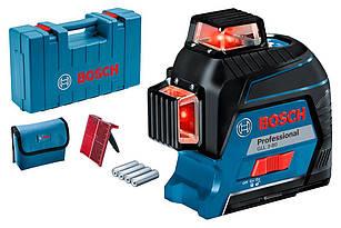 Линейный лазерный нивелир Bosch Professional GLL 3-80 + кейс + чехол (0601063S00)
