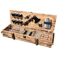 Набор шампуров Gorillas Market Витязь Gorillas BBQ в деревянной коробке (hub_gNpb25005)