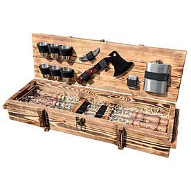 Набір шампурів Gorillas Market Витязь Gorillas BBQ в дерев'яній коробці (hub_gNpb25005)