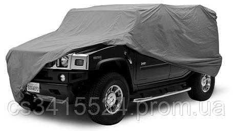Тент автомобильный Джип XL (4,82/1,96/1,45 м) с подкладкой Cotton (карман под зерало) JC13401-XL, фото 2
