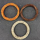 Кольцо. основа  из лозы.30 см. оранжевая, фото 2
