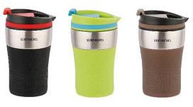 Компактна Термокружка 250 мл для чаю, кави, капучіно Edenberg EB-630, зелений колір