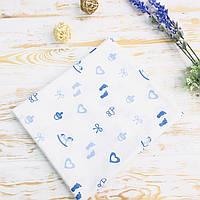 Пеленка детская для новорожденных Lukoshkino ® Размер 80*100 см. ХП-83