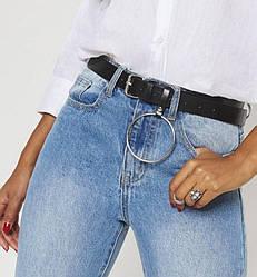 Ремень кожаный женский ширина 4 см под джинсы брюки шорты Р-38
