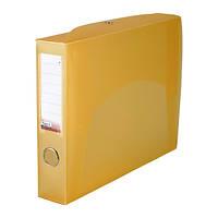 Папка-коробка сборная 55 мм, прозрачная оранжевая