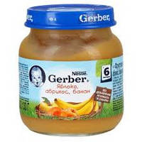 Пюре яблоко, абрикос, банан Гербер Gerber, 130 г