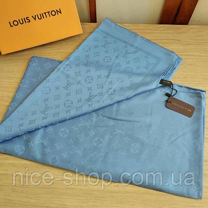 Платок Louis Vuitton шелк серо-голубой, фото 3