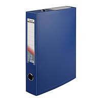 Папка-коробка сборная 55 мм, синяя