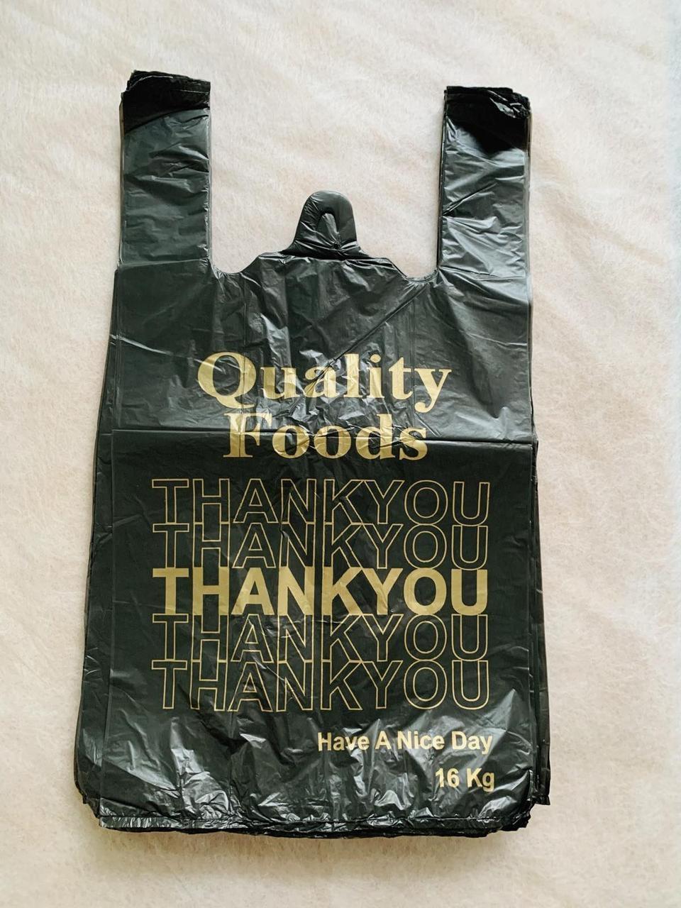 Пакет полиэтиленовый майка Thank you 16 28×47 см Мастер Торг 100 штук