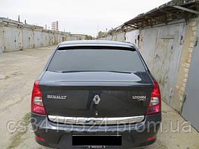 Козырек заднего стекла Renault Logan I 2004-2012 (на скотче 3М)