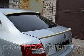 Козырек заднего стекла Skoda Octavia А7 2013 (на скотче 3М)
