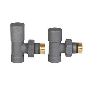 Комплект радіаторних кранів, графіт, INVЕNA,  CZ-32-K15