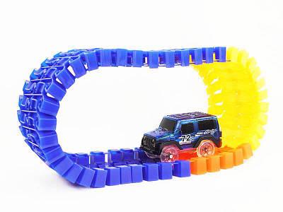 Детская светящаяся игрушечная дорога Magic Tracks 220 деталей + 2 машинки