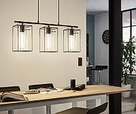 Подвесной светильник Eglo Loncino 3 х Е27 металл, стекло