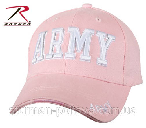 Бейсболка розовая  PINK DELUXE LOW PROFILE CAP - ARMY