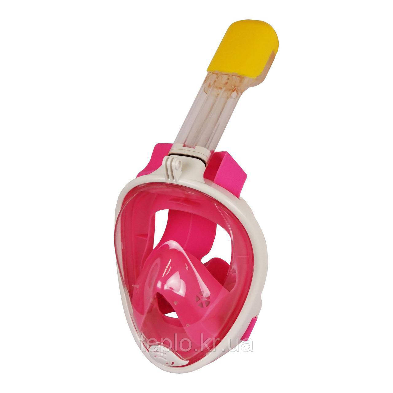 Маска для снорклинга Easybreath, розовый S/M
