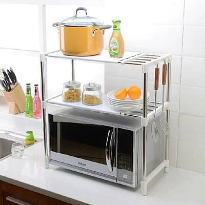 Кухонний стелаж для мікрохвильовки з полицями