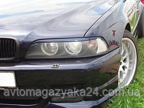 Реснички на фары BMW 5 E39 Прямые (под покраску)