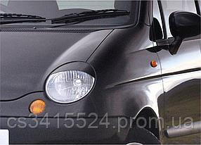 Реснички на фары Daewoo Matiz (под покраску)