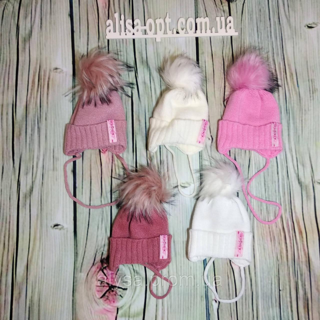 Детская шапка Г-003 для девочки акрил, подкладка - флис