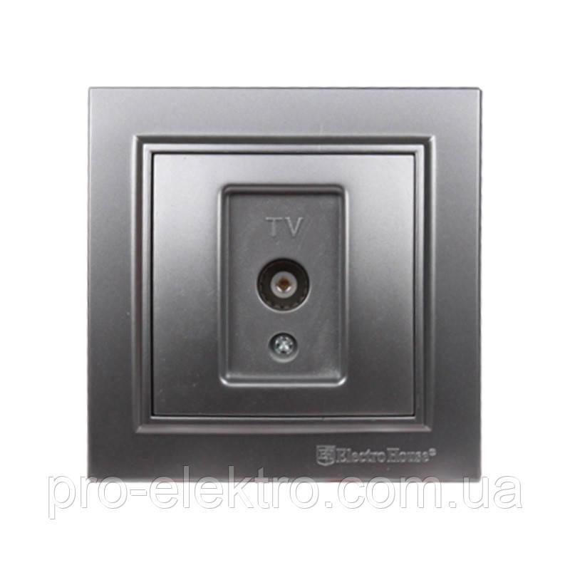 Розетка телевизионная  (серебряный камень) EH-2113-ST