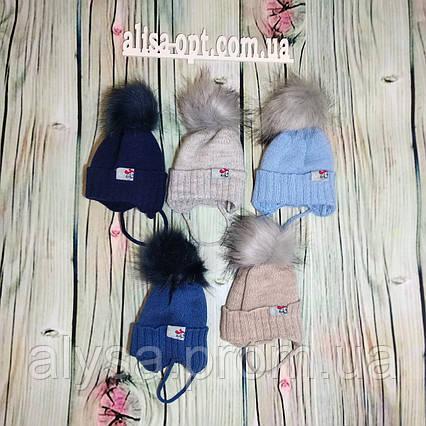 Дитяча шапка Р-003 для хлопчика акрил, підкладка - фліс
