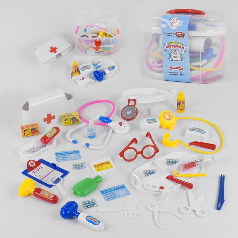 """JT Набор доктора 2553 """"Волшебная аптечка"""" (24/2) Play Smart, 36 предметов в чемодане"""