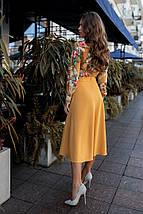 """Комбинированное А-силуэтное платье-рубашка """"Адель"""" с имитацией костюма, фото 3"""