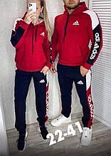 Костюм теплый мужской и женской красный