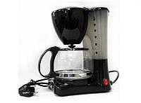 Кофеварка Crownberg Cb-1563 чёрная 800 Вт капельная кофеварка со стеклянной колбой кофемашина для дома