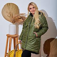 """Женское Зимнее Пальто  больших размеров """"Плащевка """" Dress Code, фото 1"""