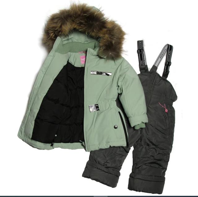 зимовий комбінезон для дівчинки куртка та напівкомбінезон