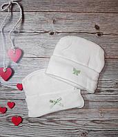 Шапочка для новорожденных осенняя
