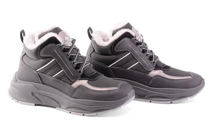 Женские зимние кроссовки DaGo Style высокие черные 37 р. - 24 см 1272038087, фото 2