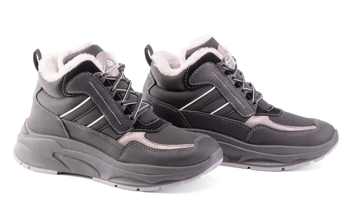 Женские зимние кроссовки DaGo Style высокие черные 37 р. - 24 см 1272038087