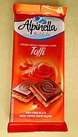 Шоколад Alpinella молочный с тоффи 100 г, фото 1