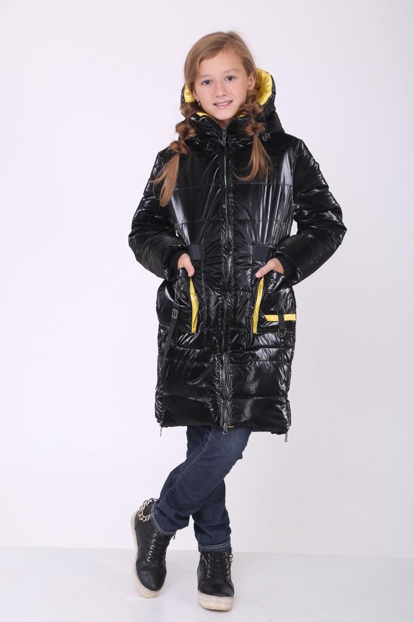 Зимова куртка для дівчинки 36-44 Чорна