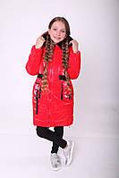Зимняя куртка для девочки 36-44 Красный