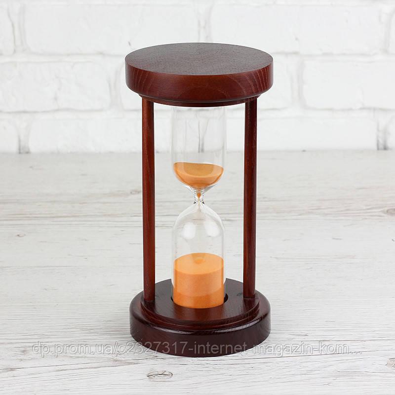 Годинник пісочний 4-34, 50 хв, вишня-помаранчевий пісок 24 см