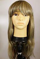 Женский парик из натуральных волос. Русый мелированный.