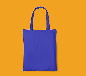 Пляжна сумка/Промо сумка (габардин) для друку колір СИНІЙ