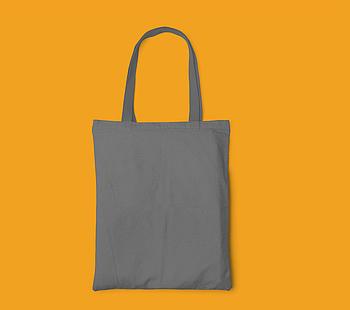 Пляжна сумка/Промо сумка (габардин) для друку колір СІРИЙ