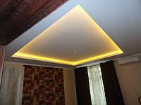 Декоративный короб на потолке из гипсокартона.