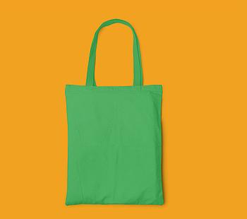 Пляжна сумка/Промо сумка(габардин) для друку колір ЗЕЛЕНИЙ