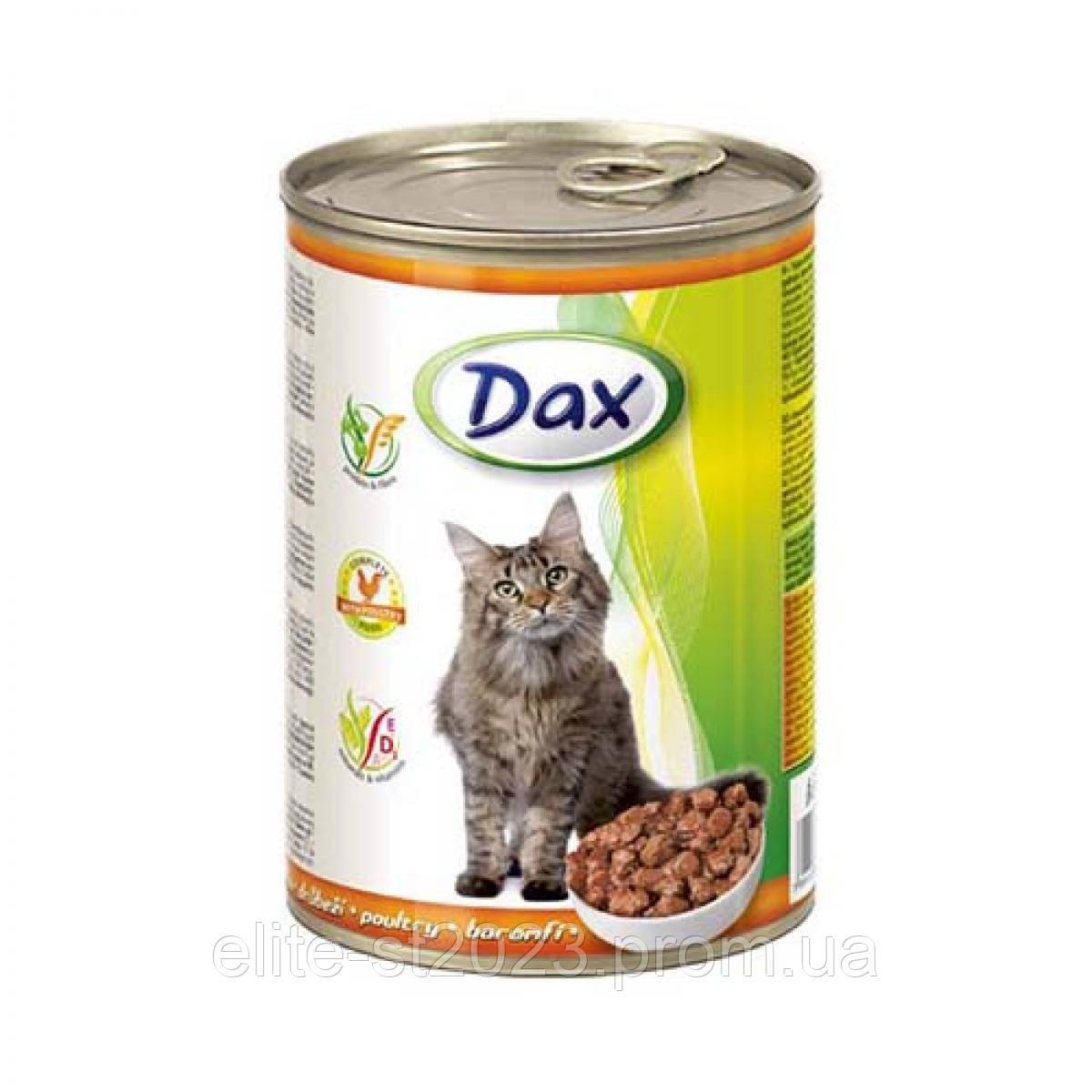 Консерва для кошек Dax птица 415г Дакс