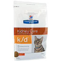 Hills Prescription Diet Kidney Care k/d Chicken Лечебный корм для поддержания функции почек и сердца у кошек / 5 кг