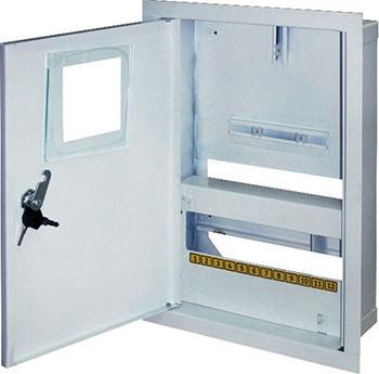 Корпус e.mbox.stand.w.f1.12.z металевий, під 1-ф лічильник, 12 мод., що вбудовує