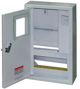 Корпус e.mbox.stand.n.f1.10.z металевий, під 1-ф. лічильник, 10 мод., навісний,